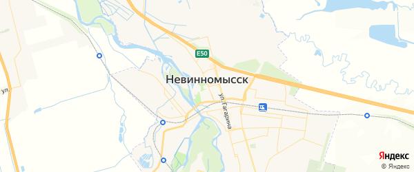 Карта Невинномысска с районами, улицами и номерами домов