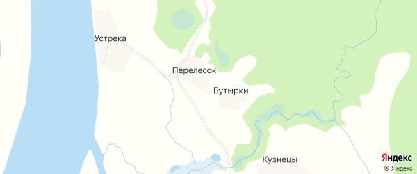 Карта деревни Перелеска в Архангельской области с улицами и номерами домов