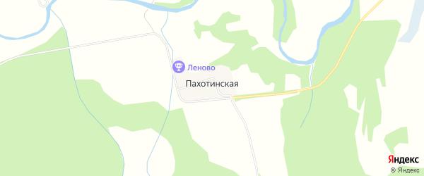 Карта Пахотинской деревни в Архангельской области с улицами и номерами домов
