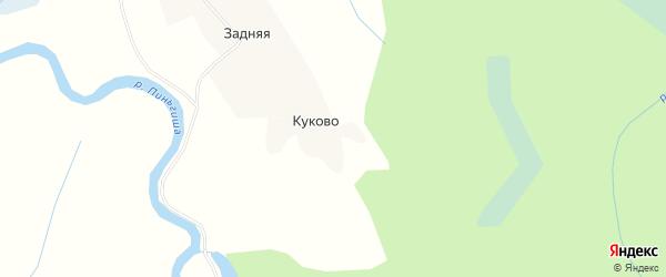 Карта деревни Куково в Архангельской области с улицами и номерами домов
