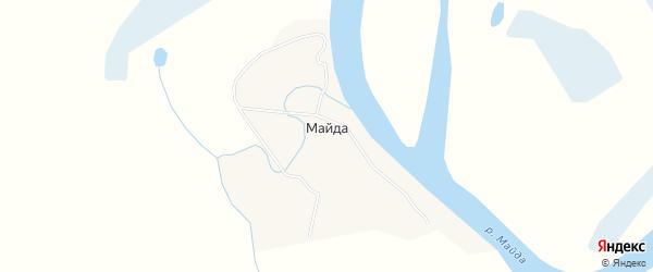Карта деревни Майды в Архангельской области с улицами и номерами домов