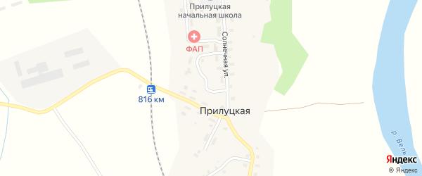 Железнодорожный переулок на карте Прилуцкой деревни с номерами домов