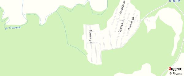 Карта садового некоммерческого товарищества Сота Колоска в Архангельской области с улицами и номерами домов