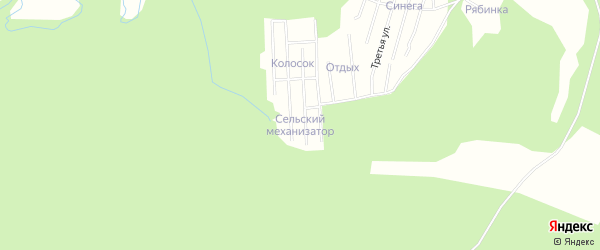 Карта садового некоммерческого товарищества Сот Сельский механизатор в Архангельской области с улицами и номерами домов