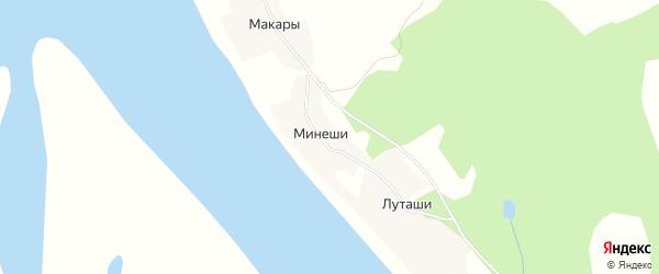 Карта деревни Старостины в Архангельской области с улицами и номерами домов