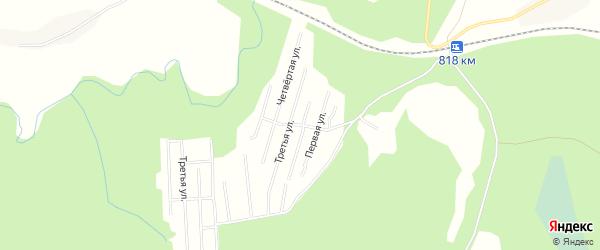 Карта садового некоммерческого товарищества Синеги в Архангельской области с улицами и номерами домов