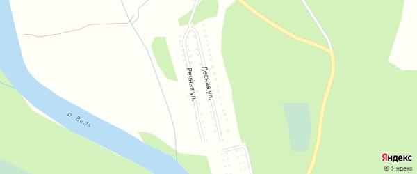Лесная улица на карте садового некоммерческого товарищества Сота Ключи с номерами домов