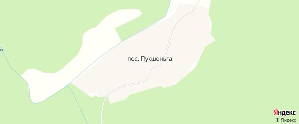 Карта деревни Пукшеньги в Архангельской области с улицами и номерами домов