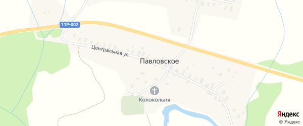 Центральная улица на карте Павловского села с номерами домов