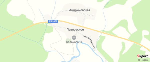 Карта Павловского села в Архангельской области с улицами и номерами домов