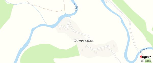 Набережная улица на карте Фоминской деревни с номерами домов