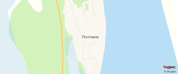 Карта поселка Почтового в Архангельской области с улицами и номерами домов
