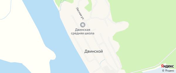Карта Двинского поселка в Архангельской области с улицами и номерами домов
