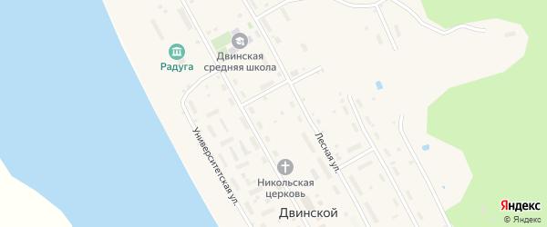 Университетская улица на карте Двинского поселка с номерами домов
