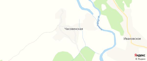 Карта Часовенской деревни в Архангельской области с улицами и номерами домов