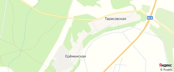 Карта Ереминской деревни в Архангельской области с улицами и номерами домов