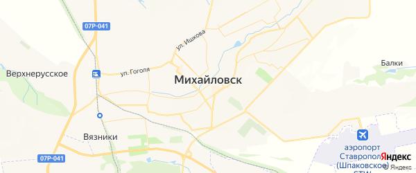 Карта Михайловска с районами, улицами и номерами домов