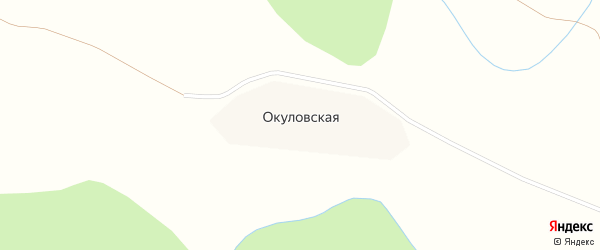 Центральная улица на карте Окуловской деревни с номерами домов