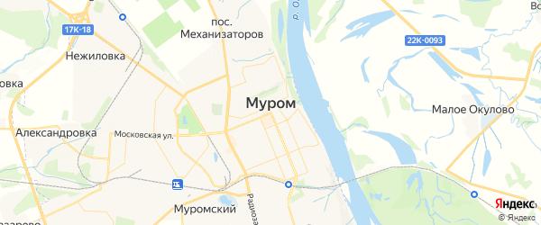 Карта Мурома с районами, улицами и номерами домов: Муром на карте России