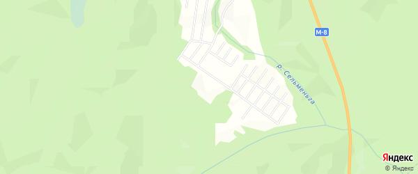 Карта садового некоммерческого товарищества Сота Луча в Архангельской области с улицами и номерами домов