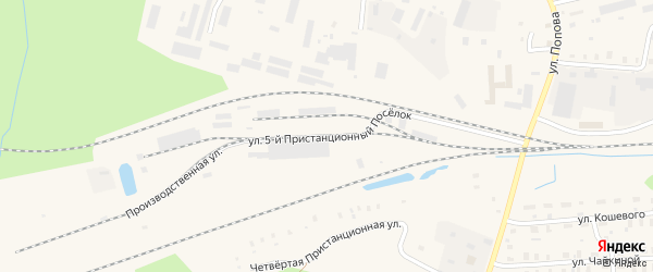 Производственная улица на карте Вельска с номерами домов