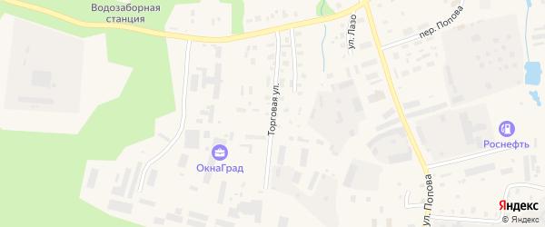 Торговая улица на карте Вельска с номерами домов