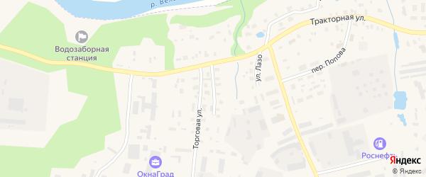 Пежемский переулок на карте Вельска с номерами домов