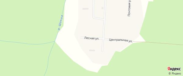 Лесная улица на карте поселка Шокши с номерами домов