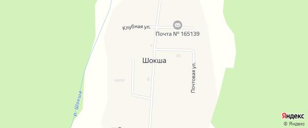 Центральная улица на карте поселка Шокши с номерами домов