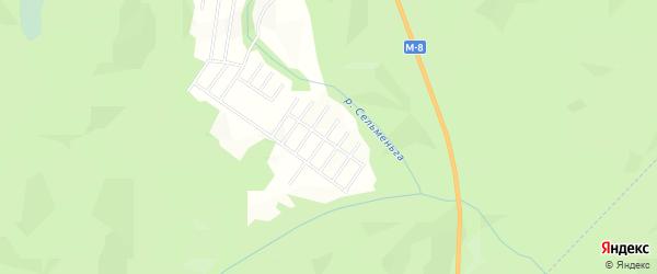 Карта садового некоммерческого товарищества Сота Автомобилиста в Архангельской области с улицами и номерами домов