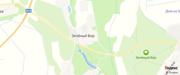 Карта поселка Зеленого Бора города Северодвинска в Архангельской области с улицами и номерами домов