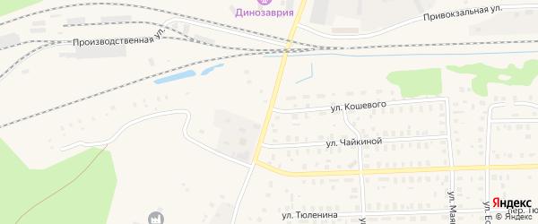 Улица Попова на карте Вельска с номерами домов