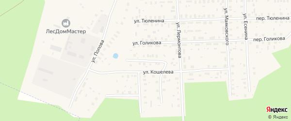 Улица Мелиораторов на карте Вельска с номерами домов