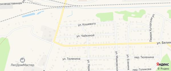 Улица Чайкиной на карте Вельска с номерами домов