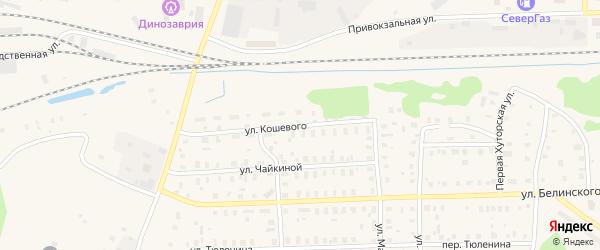 Улица Кошевого на карте Вельска с номерами домов