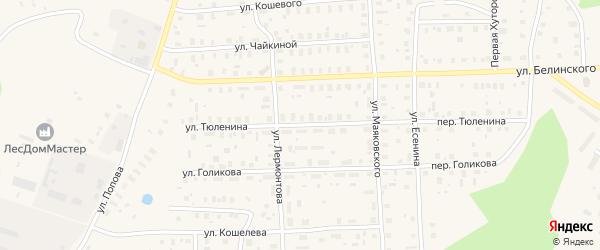 Улица Тюленина на карте Вельска с номерами домов