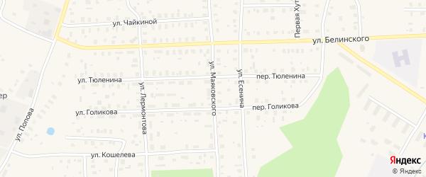 Улица Маяковского на карте Вельска с номерами домов