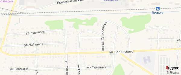 Улица Фадеева на карте Вельска с номерами домов