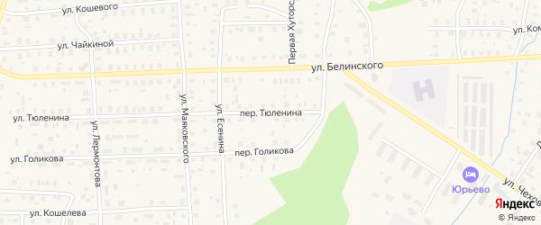 Переулок Тюленина на карте Вельска с номерами домов