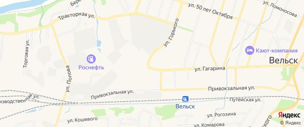 ГСК У д.N2Б на карте улицы Гагарина с номерами домов