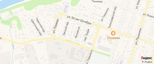 Речная улица на карте Вельска с номерами домов