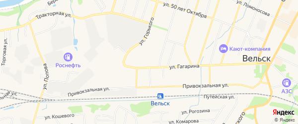 ГСК У д.N6а на карте улицы Гагарина с номерами домов