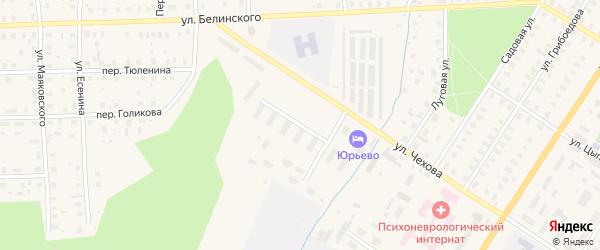 Переулок Победителей на карте Вельска с номерами домов