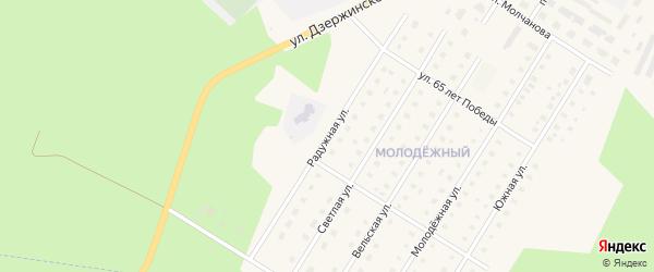 Радужная улица на карте Вельска с номерами домов