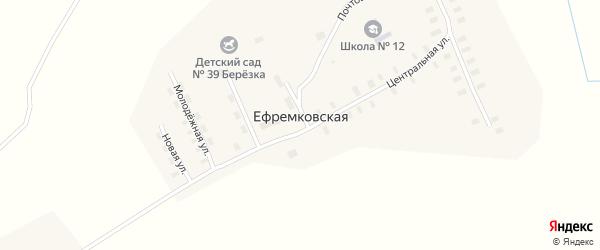 Новая улица на карте Ефремковской деревни с номерами домов