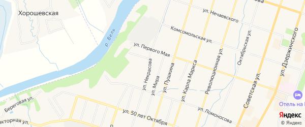 ГСК У д.N42в на карте улицы Некрасова с номерами домов