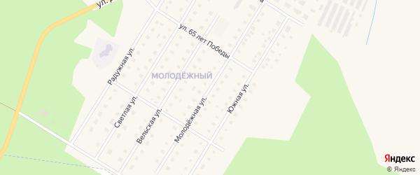 Молодежная улица на карте Вельска с номерами домов