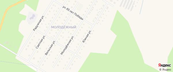 Южная улица на карте Вельска с номерами домов