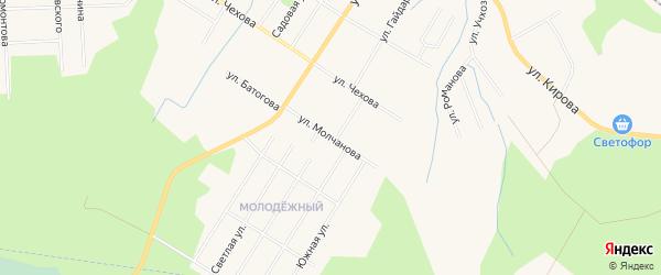 ГСК Молчанова на карте улицы Молчанова с номерами домов
