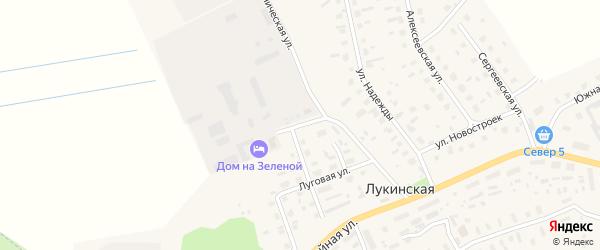 Зеленая улица на карте Лукинской деревни с номерами домов
